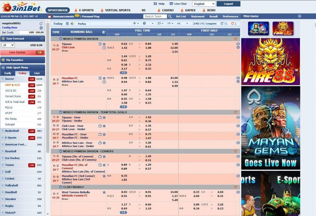 3in1bet - Famous Sportbook in Vietnam