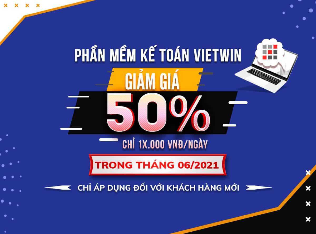 HOT: Phần mềm kế toán VietWin & chương trình khuyến mại mới